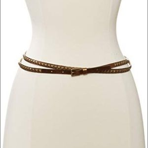 TED BAKER Knottie Thin Studded Belt One Size